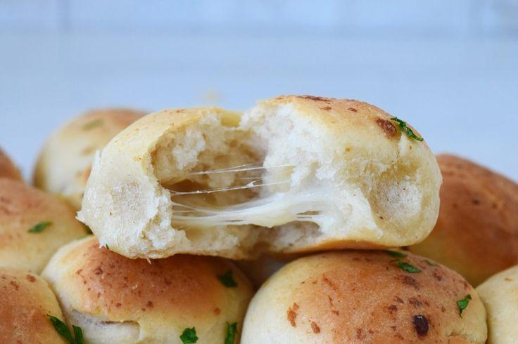 Mozzarella Stuffed Garlic Doughballs