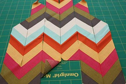 TUTORIAL TUESDAY: MAKING CHEVRON FROM STRIPES
