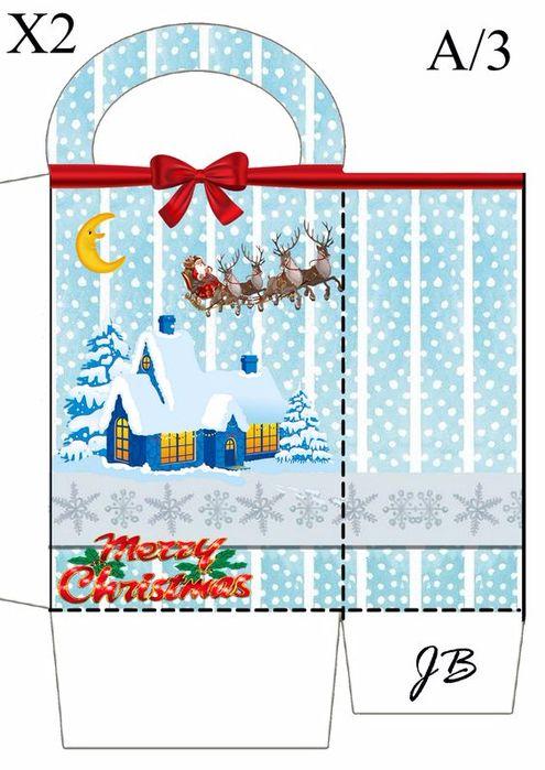 Φύκια και μεταξωτές κορδέλες: 30 χριστουγεννιάτικες συσκευασίες δώρων έτοιμες για εκτύπωση.