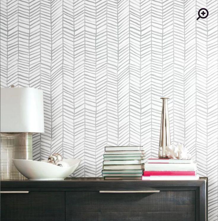 Wayfair peel and stick wallpaper. Herringbone   Home decor ...
