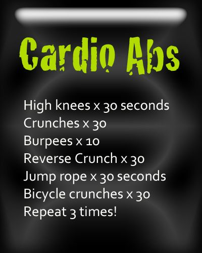 Quick workout ideas and graphics