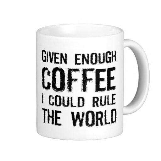 Funny coffee saying mugs