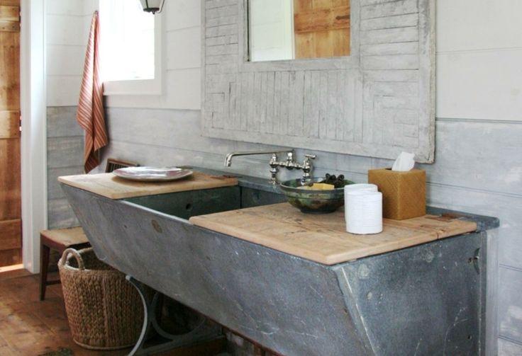 Las 25 mejores ideas sobre lavabos r sticos en pinterest - Decoracion de banos rusticos ...