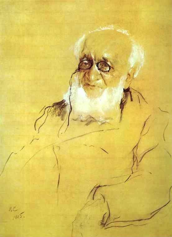 Семёнов-Тян-Шанский, Пётр Петрович. Портрет работы Валентина Серова, 1905 год.