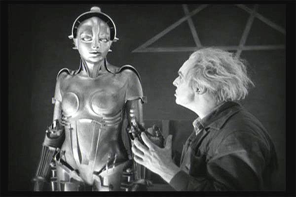 Szene aus METROPOLIS, Rotwang und sein Maschinenmensch!