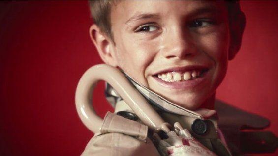David Beckham's Son Romeo Beckham, Age 10, Becomes a Burberry Model