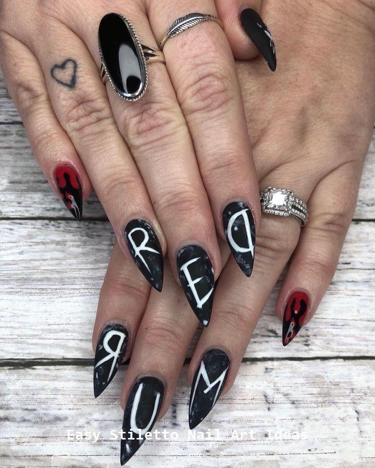 30 Ideen für großartige Stiletto-Nageldesigns #stilettonails #naildesigns   – My nail game