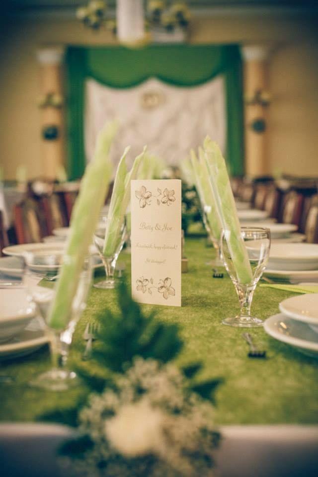 Esküvői dekoráció - zöld (fotó: Magyar Szabolcs)