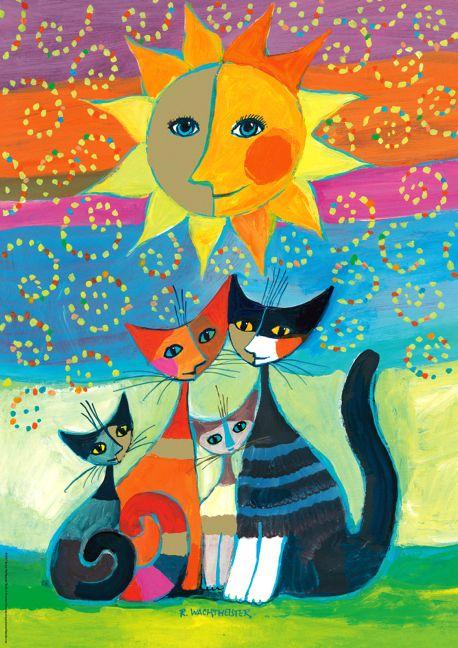 Sun bathing cats