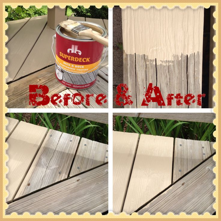 DONE! Sherwin Williams Superdeck Deck & Dock paint for
