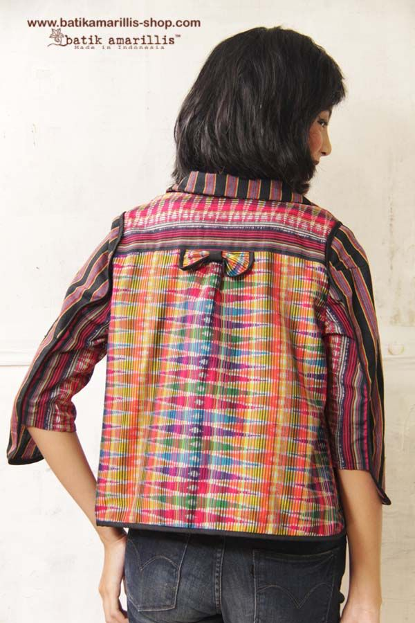 NEW! Batik Amarillis's lil' jolie jacket in Ikat Indonesia available at Batik Amarillis webstore:www.batikamarillis-shop.com