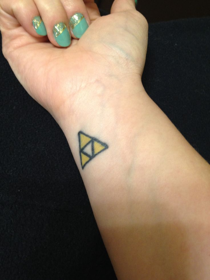 Stick with the classics legend of zelda triforce tattoo for Triforce hand tattoo