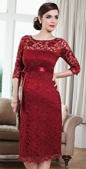 Amelia Maternity Dress Short (Moulin Rouge) - Maternity Wedding Dresses, Evening Wear and Party Clothes by Tiffany Rose.