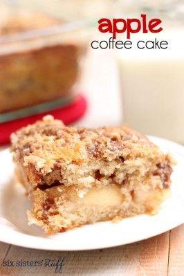 Apple Coffee Cake on Six Sisters' Stuff
