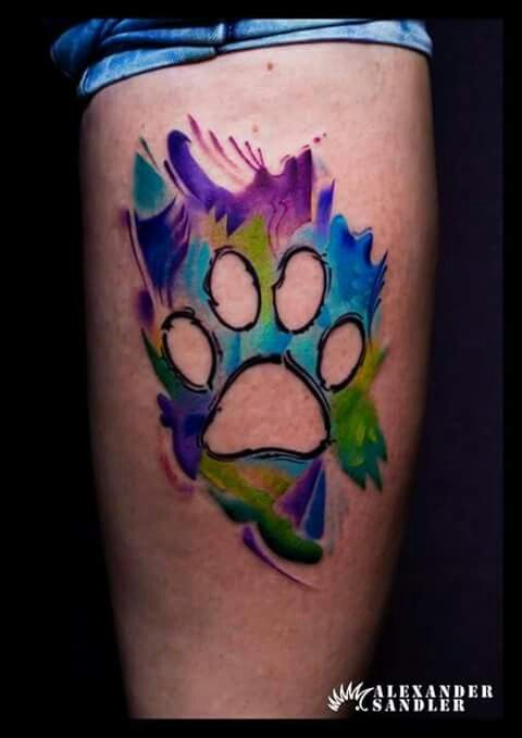 Paw tattoo