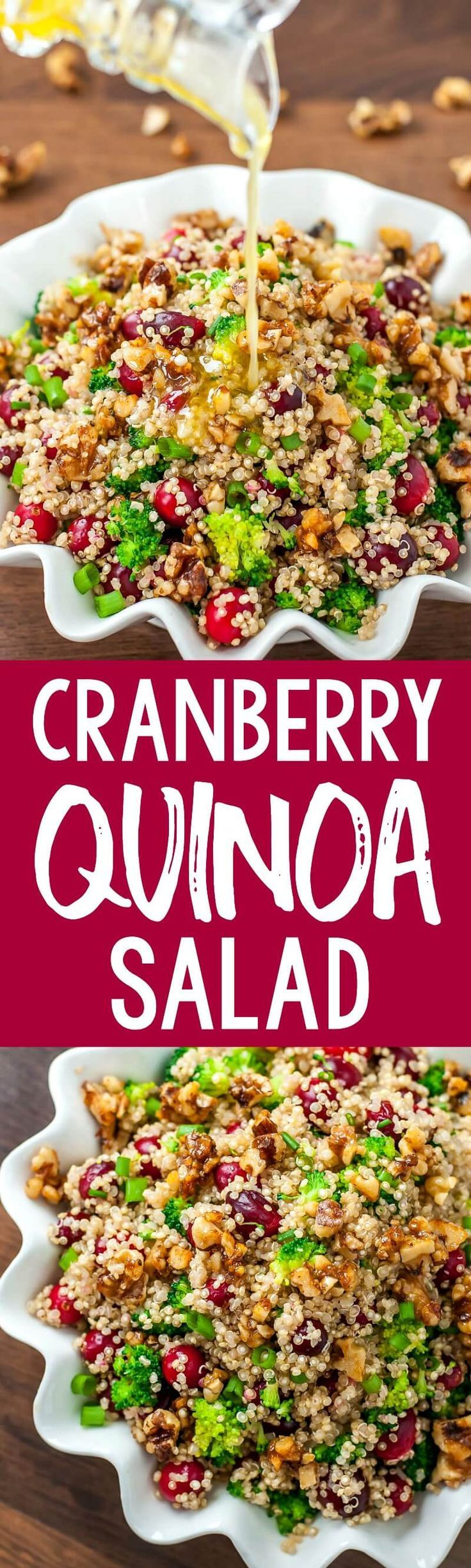 This Healthy Cranberry Quinoa Salad is gluten-free and totally tasty! #healthy #glutenfree #quinoa #salad