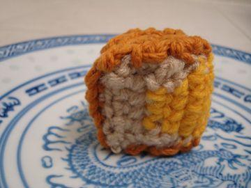 crocheted slice o'mooncake!