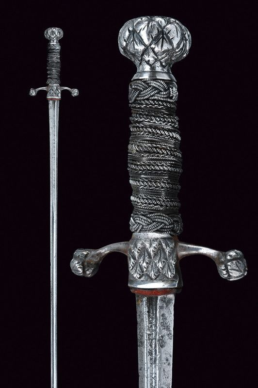 A pillow-sword    provenance:	 	France dating:	 	 17th Century