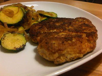 Coconut flour pan fried chicken breasts