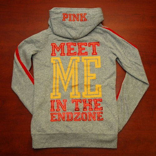 "Victoria's Secret Pink Kansas City Chiefs...""Meet me in the end zone"""