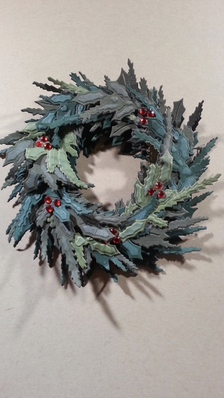 Spellbinders build a wreath