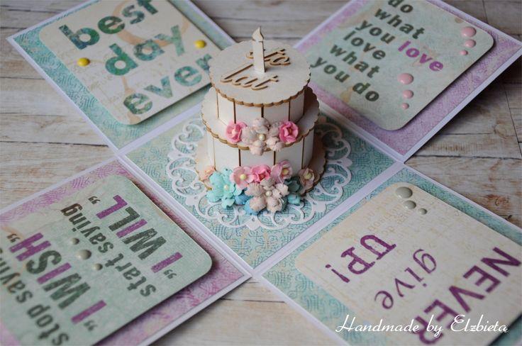 Handmade by Elżbieta: Urodzinowo i motywująco