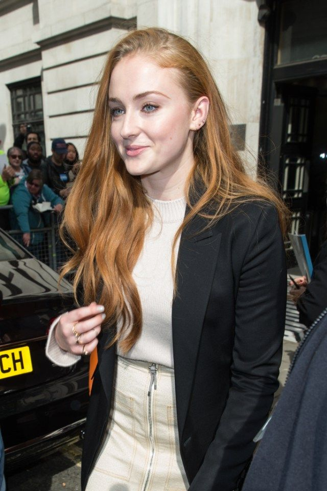 Sophie Turner pictured arriving at the Radio 2 studio