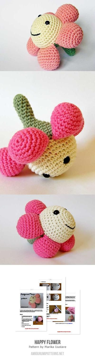 Happy Flower Amigurumi Pattern