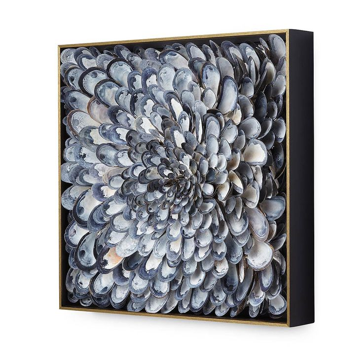 Infinite Mussels Wall Sculpture | shell art | UncommonGoods