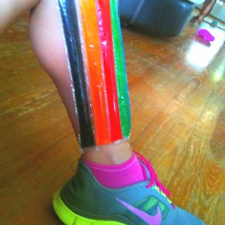 Use freeze pops to soothe shin splints and sore ankles!!!