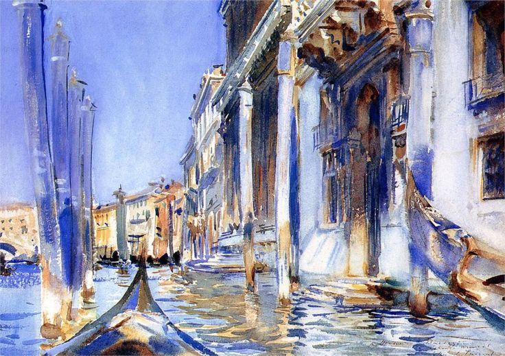 "John Singer Sargent -    ""Rio dell Angelo"", 1902  watercolor"