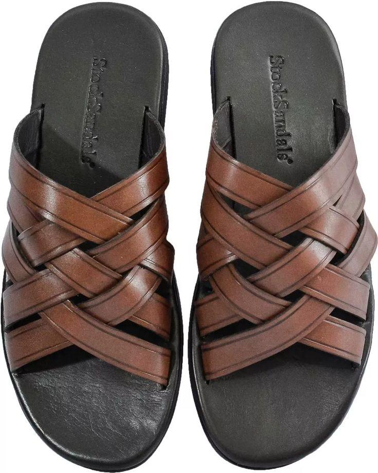 Sandália Masculina De Couro Stock Sandals Oberyn - R$ 99,90