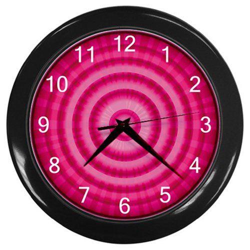 Red+Onion+Slice+Black+Frame+Kitchen+Wall+Clock