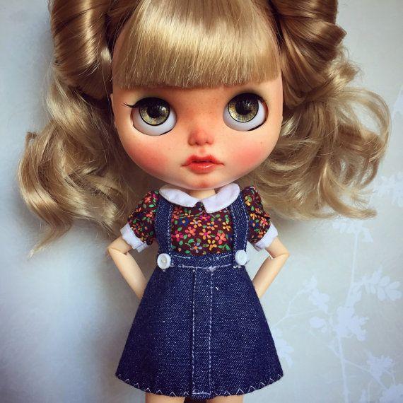 Custom Blythe Doll od Blythe & Shine OOAK blond vlasy a