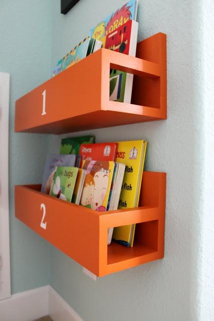 Mini Bookshelves for Sawyer's Room