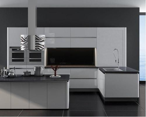 Sleek Lines With This White Gloss Handleless Kitchen And Silestone