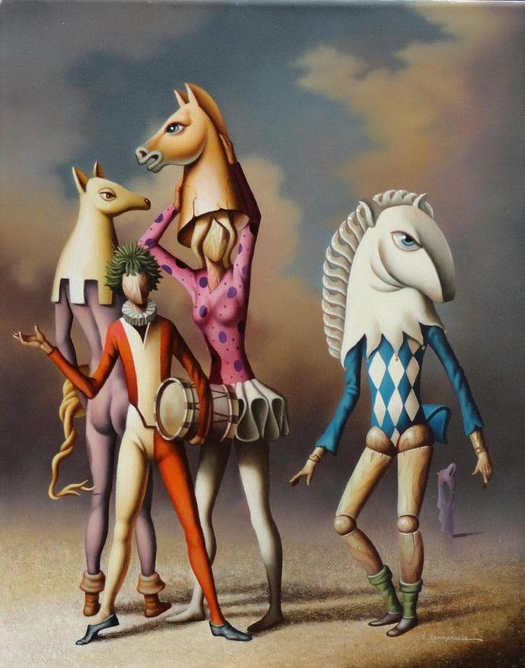 """Vito Campanella """"Carnaval surrealista"""" Óleo 50 x 40 cm."""