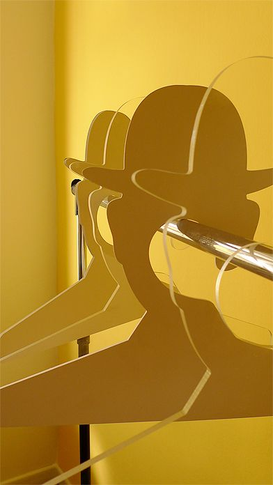 Magritte Hangers - would be a cool thing to have at craft shows for clothing!