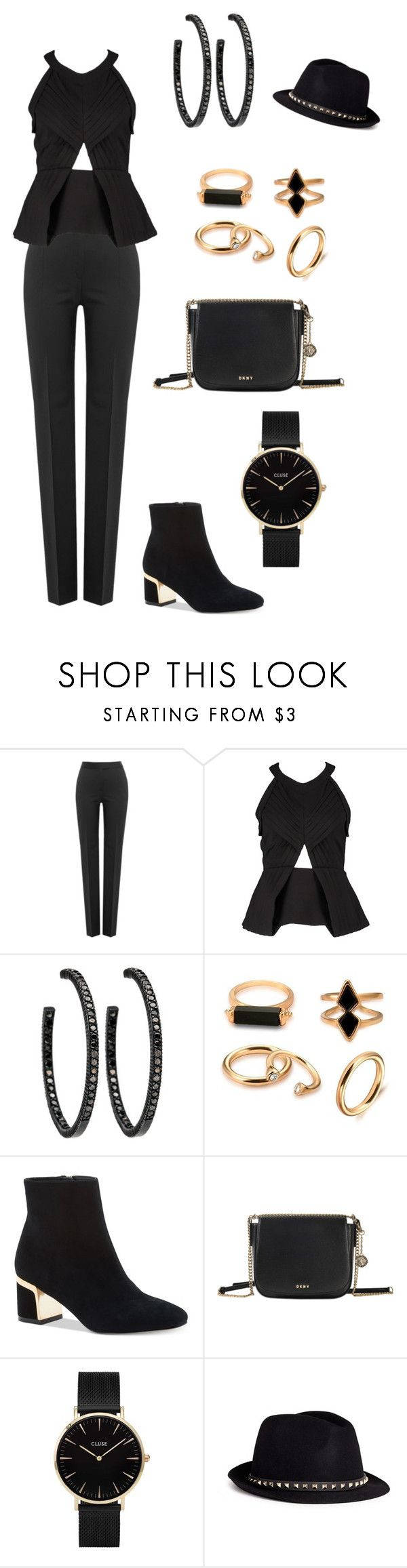 """""""Untitled #850"""" by lilachswan ❤ liked on Polyvore featuring Boutique Moschino, Finders Keepers, DKNY, CLUSE and Valentino"""