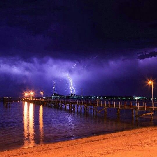 Lightning in summer storm over Port Lincoln South Australia. A must travel destination.  Amazing photo by @johnwhitephotos