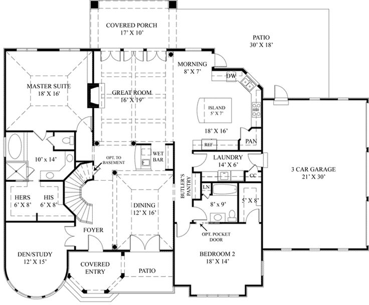 European Style House Plans   3308 Square Foot Home, 2 Story, 2 First Floor  Master Suites, 4 Bedroom And 4 3 Bath, 3 Garage Stalls By Monster House  Plans   ...