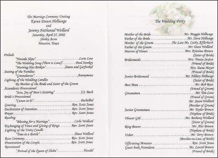 25+ best ideas about Wedding program examples on Pinterest ...