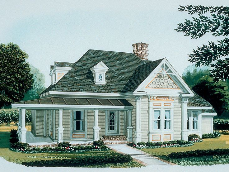 Single story house plans plan 054h 0088 find unique for Unique cottage plans