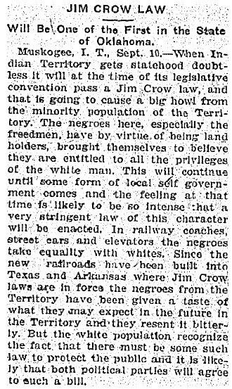 Brief Overview of Racist Laws: