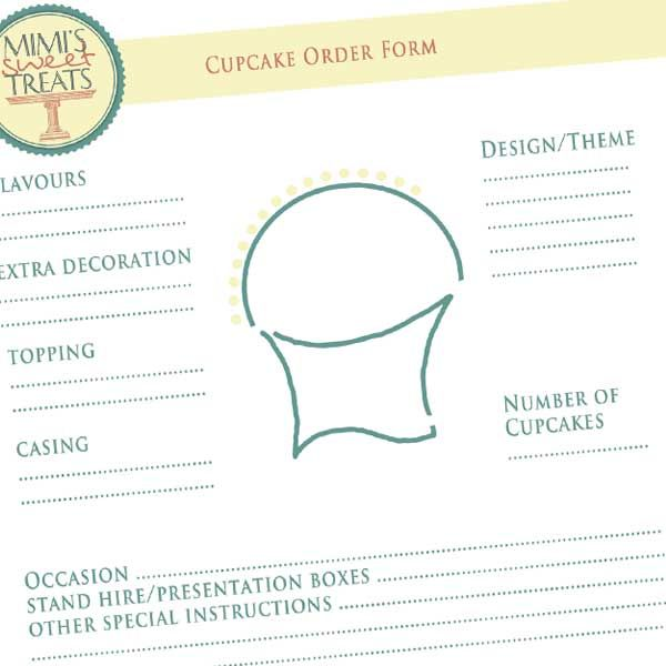 ... Cupcake Order Form How To Write A Cake Contract Bakery Business   Cake Order  Forms ...