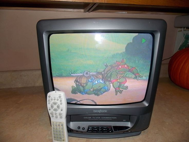 "Broksonic CTSGT-8118CTT 13""  CRT TV VCR Combo Portable VHS Recorder Player #Broksonic"