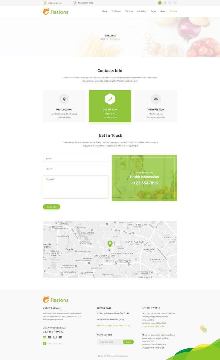 Ration Diet & Nutrition Health Care PSD Template amp,