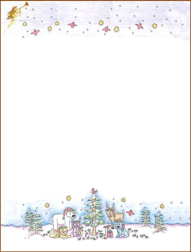 111 best Christmas Stationery images on Pinterest Christmas - microsoft word santa letter template