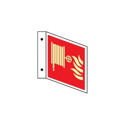 Brandslange u/tekst L-skilt