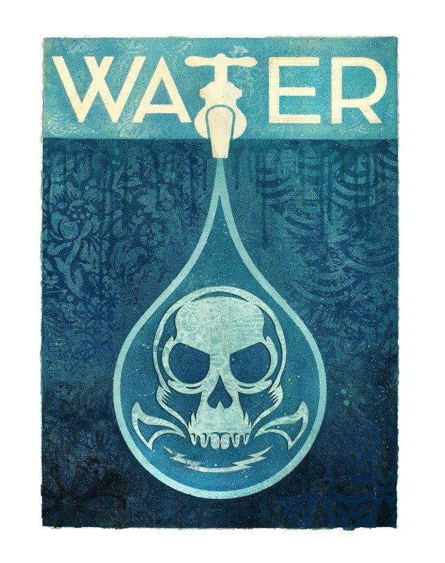 Shepard Fairy Water Poster
